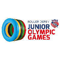 Jr Olym Games - Roller Derby - Track 1 - July 13th - 1 Day Pass Logo