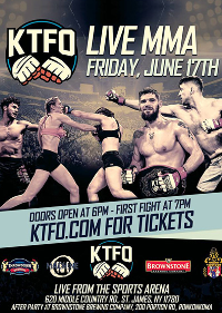 KTFO MMA LIVE!  June 17th 2016 Starts at 7PM Sharp Logo