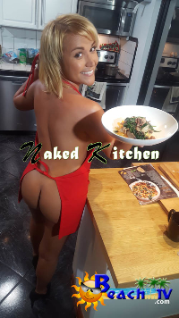 Naked Kitchen Jenny Scordamaglia & Flaca LIVE BACKSTAGE filming Logo