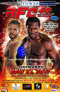 RFC 40 MMA LIVE! JULY 21, 2017 Starts at 8PM Sharp Logo