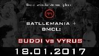 BMCL 18Jan17: Dortmund BUDDI vs VYRUS Logo