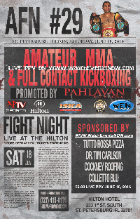 KICK BOXING AFN 29 Live PPV Saturday June,18 Starts at 6PM/ET 3PM/PT Logo