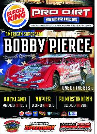 Burger King Pro Dirt Super Saloon Series  - with Bobby Pierce Logo