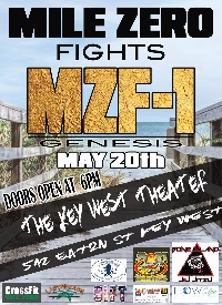 Mile Zero Fights MZF 1 May 20th Pay Per View Live Stream!!! Logo