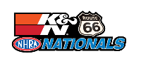 K&N Filters Route 66 NHRA Nationals, Chicago, IL - Sunday Logo