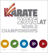 Replay-Karate World Championships Saturday Morning Event-29/10/2016 Logo