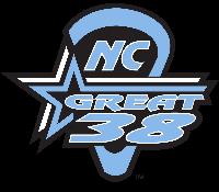 NC Great 38 Lax - Black v. Blue Logo
