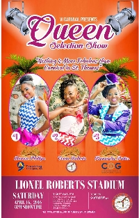 2016 St. Thomas Carnival Queen Show Logo