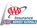 AAA Insurance NHRA Midwest Nationals, St Louis, MO - Sunday Logo